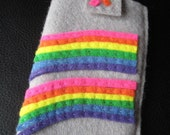 Double Rainbow Felt iPhone Case