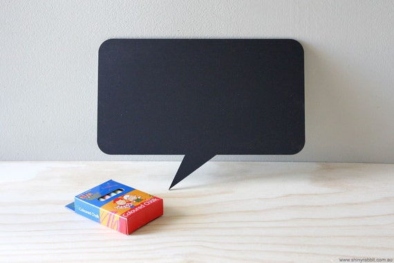 Chalkboard Jumbo Fridge Magnet Speech Bubble