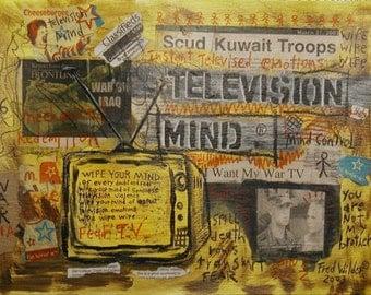 TELEVISION MIND N0. 6 fluxus graffiti collage brut outsider art punk poetry
