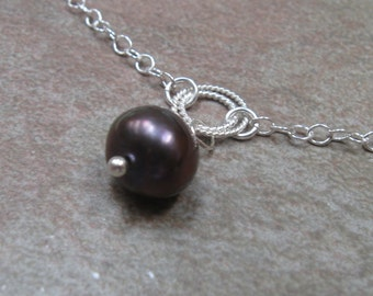 Silver pearl bracelet - freshwater pearl