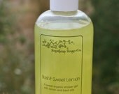 Sweet Lemon & Basil Organic Shower Gel - 250mL
