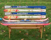 Recycled Ski Bench