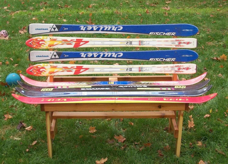Recycled Ski Bench
