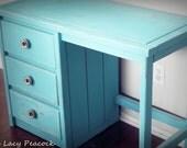 NEW Vintage Turquoise Desk/Vanity
