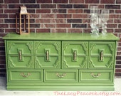 Custom Order for Kelly Retro Green Dresser/ Changing Table/ Buffet/ Credenza/ Console/ Tv Stand