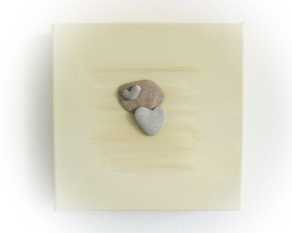 Unique Christmas Gift  -  genuine Heart shaped Beach stone rocks