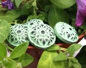 Drawer Pulls, Drawer Knobs, Light Green Shabby Chic Knobs - Set of 4 knobs
