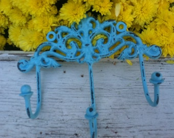 Treasury Item - Shabby Chic Key Holder, Wall Hook, Wall Hanger
