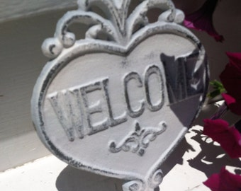 Cast Iron Wall Decor / WeLCoMe Sign / Cast Iron Welcome Sign