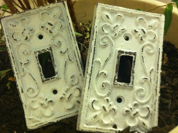Cast iron light switch plate single cast iron plate witch - Wrought iron switch plate covers ...