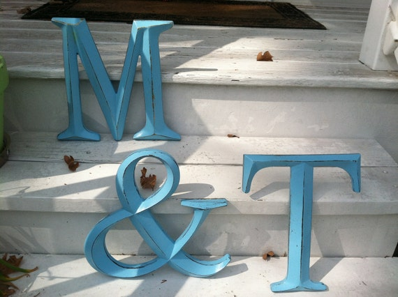 Wall Decor / Large Letter / Shabby Chic Wall Decor / Wedding Decor / Wedding Prop - New Item - PiCK YoUR CoLOr and PIcK YOuR LeTTeR