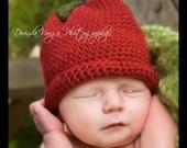 Crochet Red Apple Hat 0-3 month