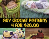 Crochet Pattern Bundle - Any 4 Patterns for 20.00 - Digital files .pdf's  (not finished items)