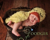 Instant Download Crochet pattern - No 33 Fuzzy Duckling Critter Cape - Newborn Photography Prop
