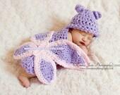 Butterfly Cuddle Critter Cape Set  Newborn Photography Prop