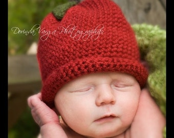 Newborn Red Apple Hat