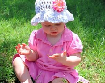 Brimmed Crochet Sun Hat