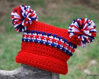 Lil' Spirit Textured Jester hat - Patriotic Stripes