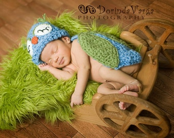 Instant Download Crochet Pattern - Owlette Owl - Cuddle Critter Cape Set  - Newborn Photography Prop