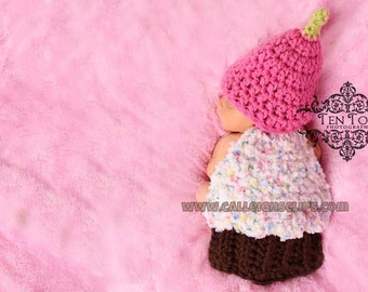 Celebration Cupcake Cuddle Cape Set  Photography Prop
