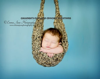 Instant Download Crochet Pattern - No 34 Thick N' Quick Crochet Hammock - Newborn Photography Prop