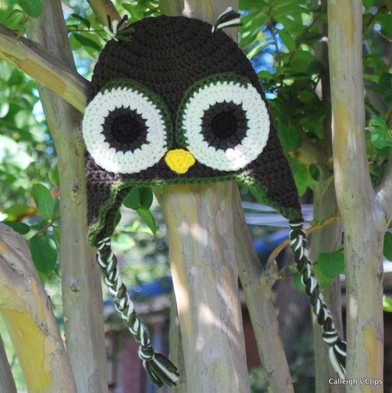 Owl Earflap hats for Pre-teen to Men and Women