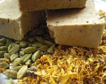 Cardamom Scrub and Soap -  with Raw honey, calendula & more