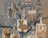 Woodland Christmas 2, A Pattern To Make 8 Christmas Ornaments