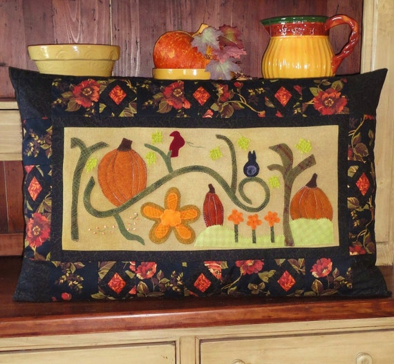 Autumn, A Pattern for a Large Wool Embroidered Pillow