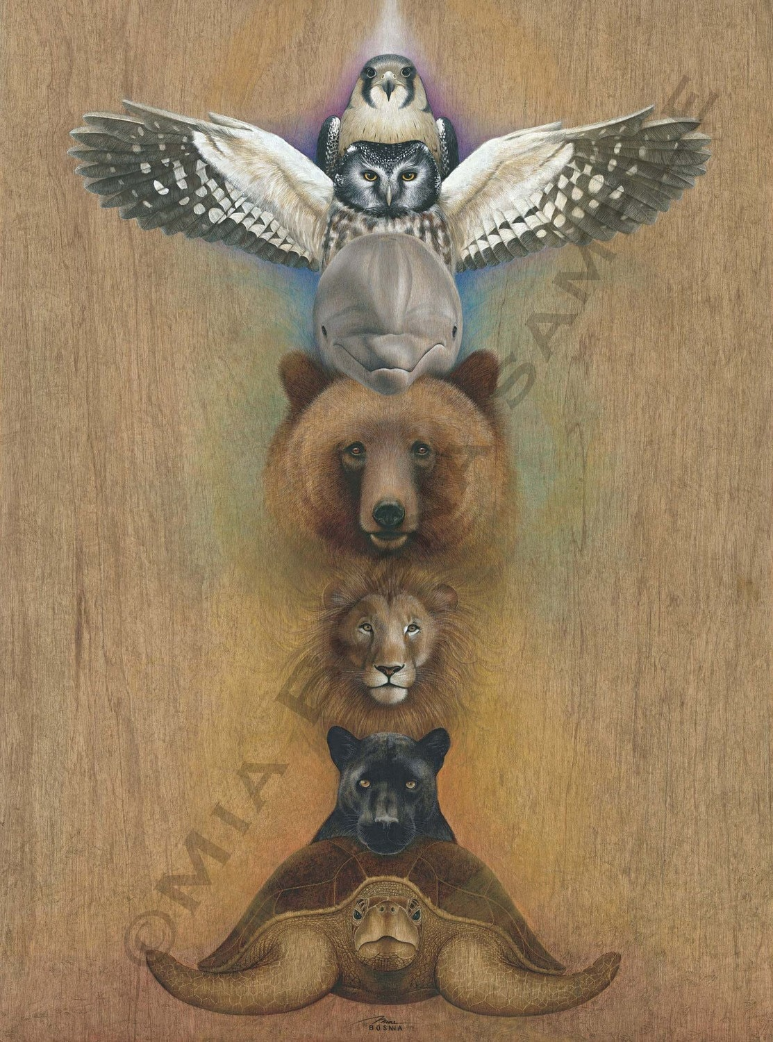 Chakra Animal Totem Print By Bosnart On Etsy