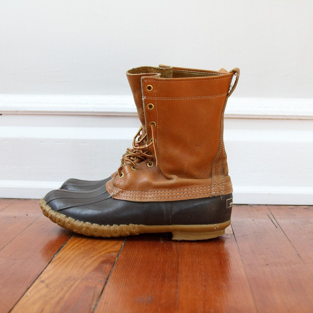 vintage mens ll bean duck boots size mens 10 5