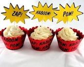Comic Book Super Hero Cupcake Kit