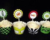 Super Hero Comic Book Cupcake Toppers