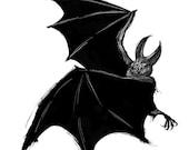 Bat print 8x10