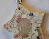 Irish Vintage Scilling Mosaic Wish Star