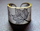 Maple Leaf Ring - Choose Your Size