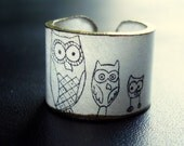 The Owl Family Ring - Choose Your Size