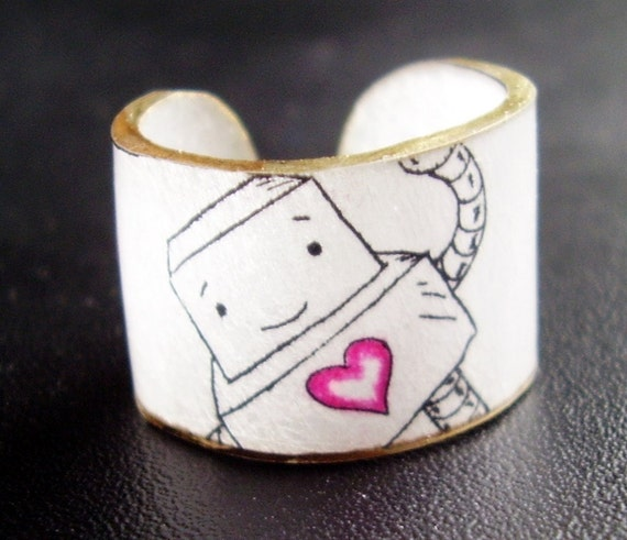 Robot Love Ring - Choose Your Size