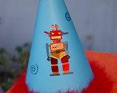 Birthday Hat - Robot for Jennifer