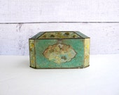 Mint Green Biscuit or Tea Tin - English Candy Tin - Metal Canister Box  - Made in England