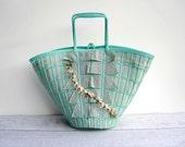 Turquoise Easter Basket Purse - Spring Handbag - Easter Tote Bag - Aqua Spring Fashion