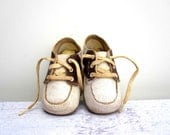 Leather Baby Shoes - Vintage Saddle Shoes