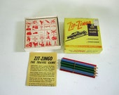 Mid Century Travel Game - Zit Zingo for Vacation Road Trip - Retro Educational Game for the Family