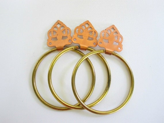Towel Bar Ring Holders Copper and Brass Metallic