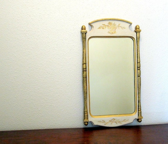 Ornate Wall Mirror - Cream White Gold - Large Dresser Mirror