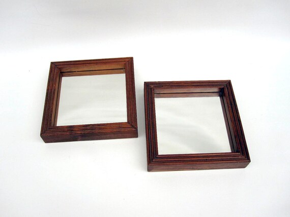 Rustic Wall Mirrors - Wood Framed Mirrors - Square Mirrors with Deep Frames