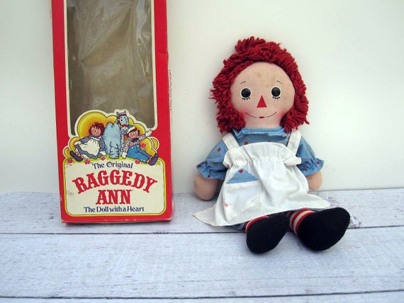 Raggedy Ann Doll with Original Box - 1976 Knickerbocker Raggedy Ann Toy Doll