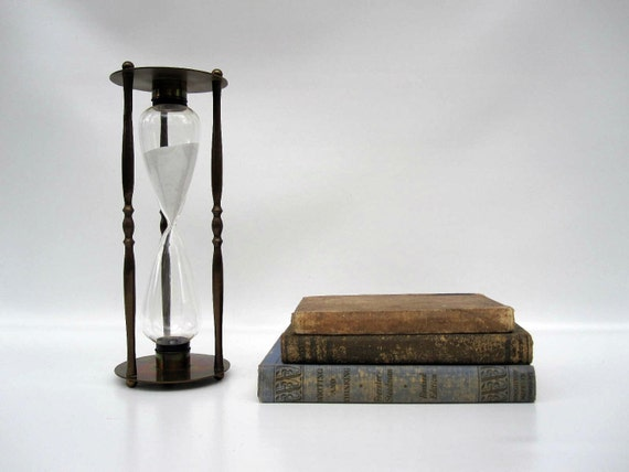 Maritime Brass Hourglass - Old World Decor - Nautical Hour Glass - 30 Minute Timer