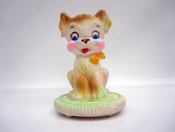 Baby Nursery Night Light - Childs Lamp - Puppy Dog Bedside Light