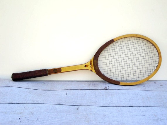 Vintage Tennis Racket - Bancroft wOMENS Wooden Racket - 1970s - Tear Drop Design
